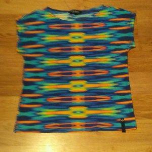 Ralph Lauren Bright T Shirt Aztec Design SOFT!